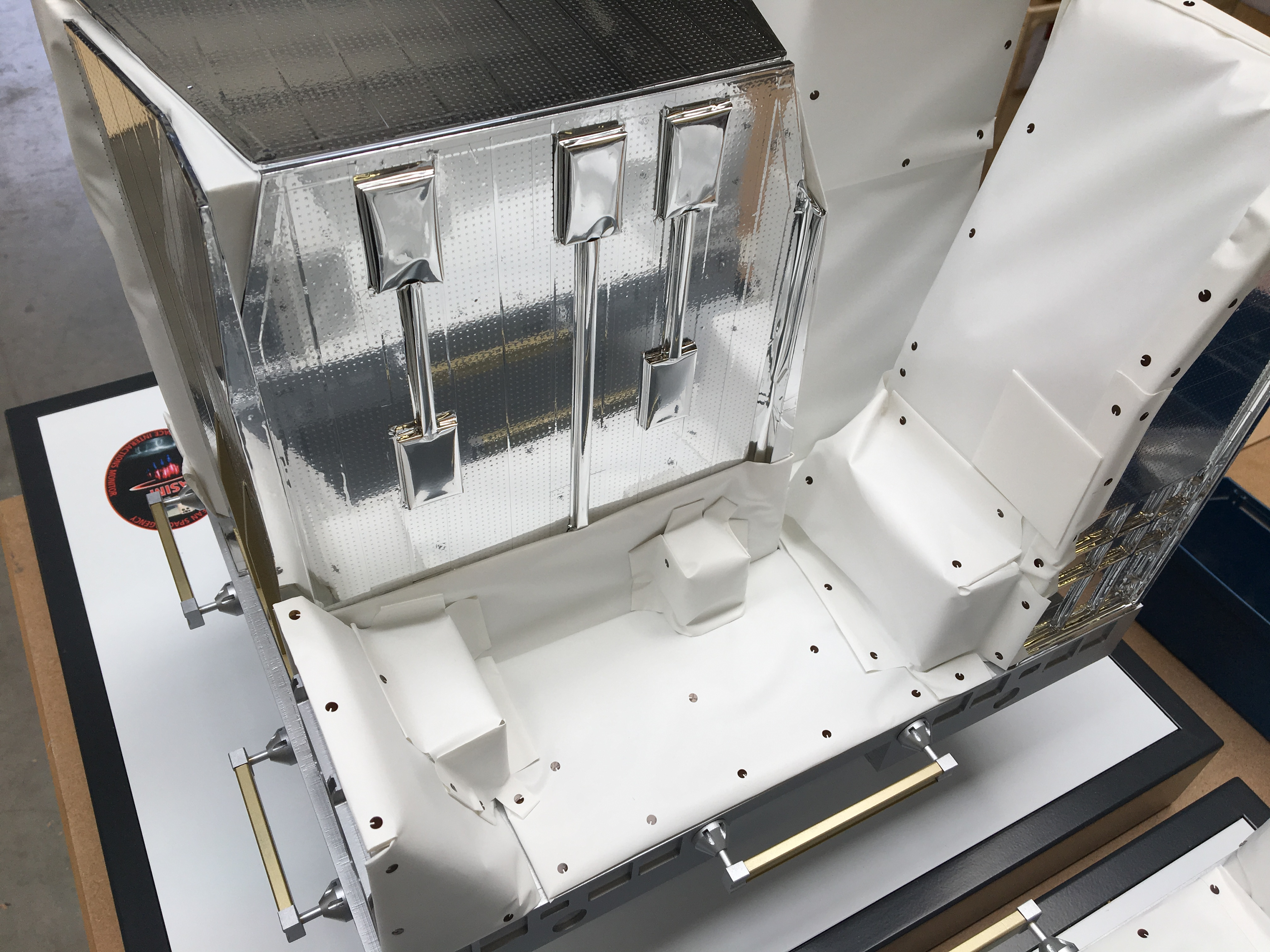ASIM model scale 1:3 for TERMA AS Space model ISS