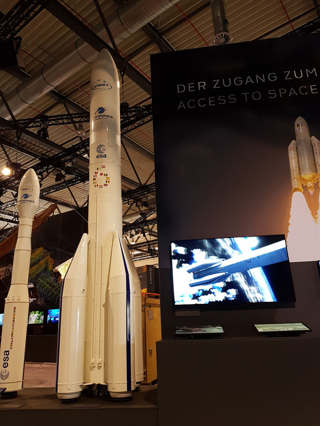 Ariane-6 and Vega-C, scale 1:10 for ESA rocket model