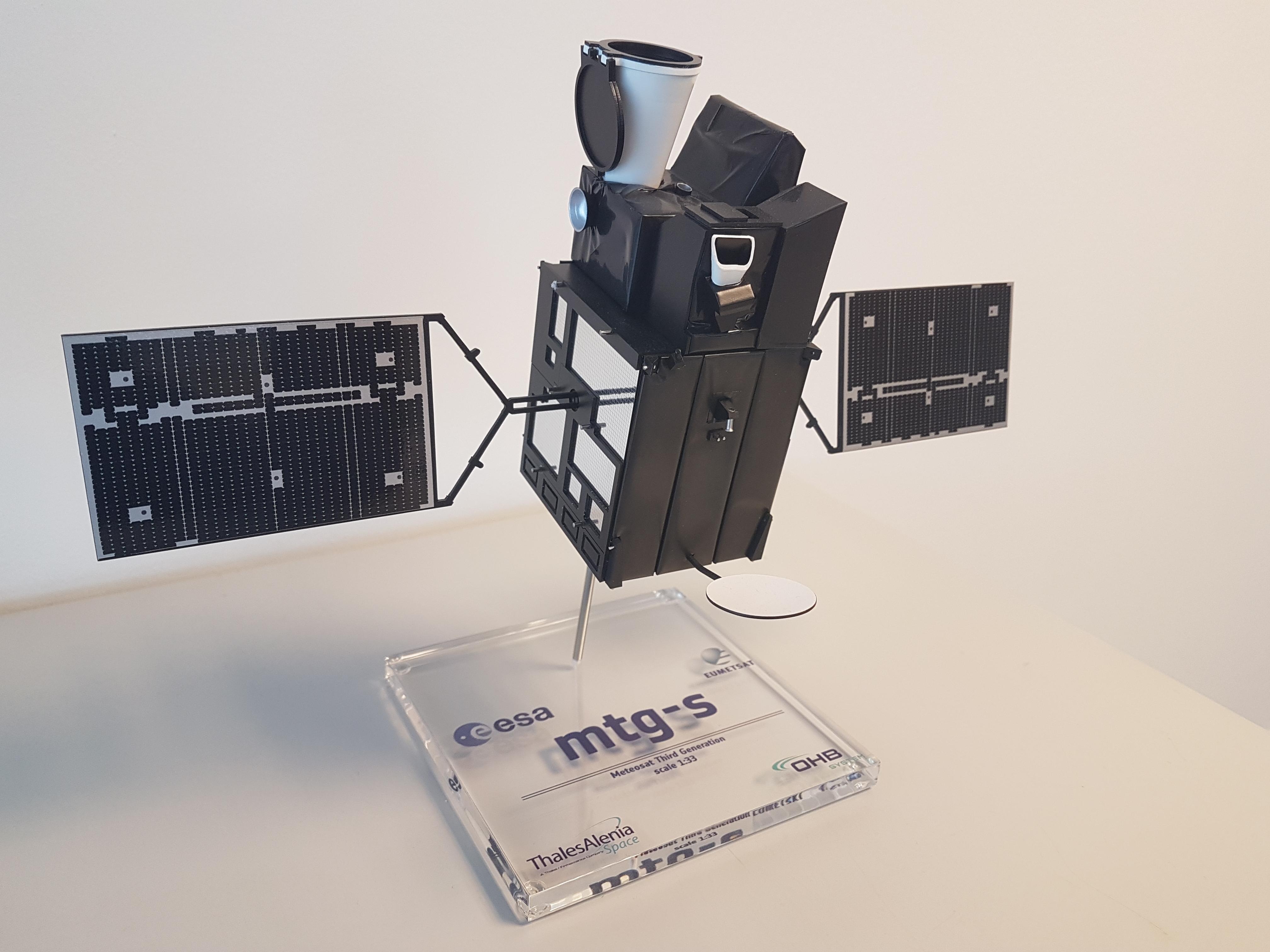 MTG-S 1:33 space satellite model eumetsat
