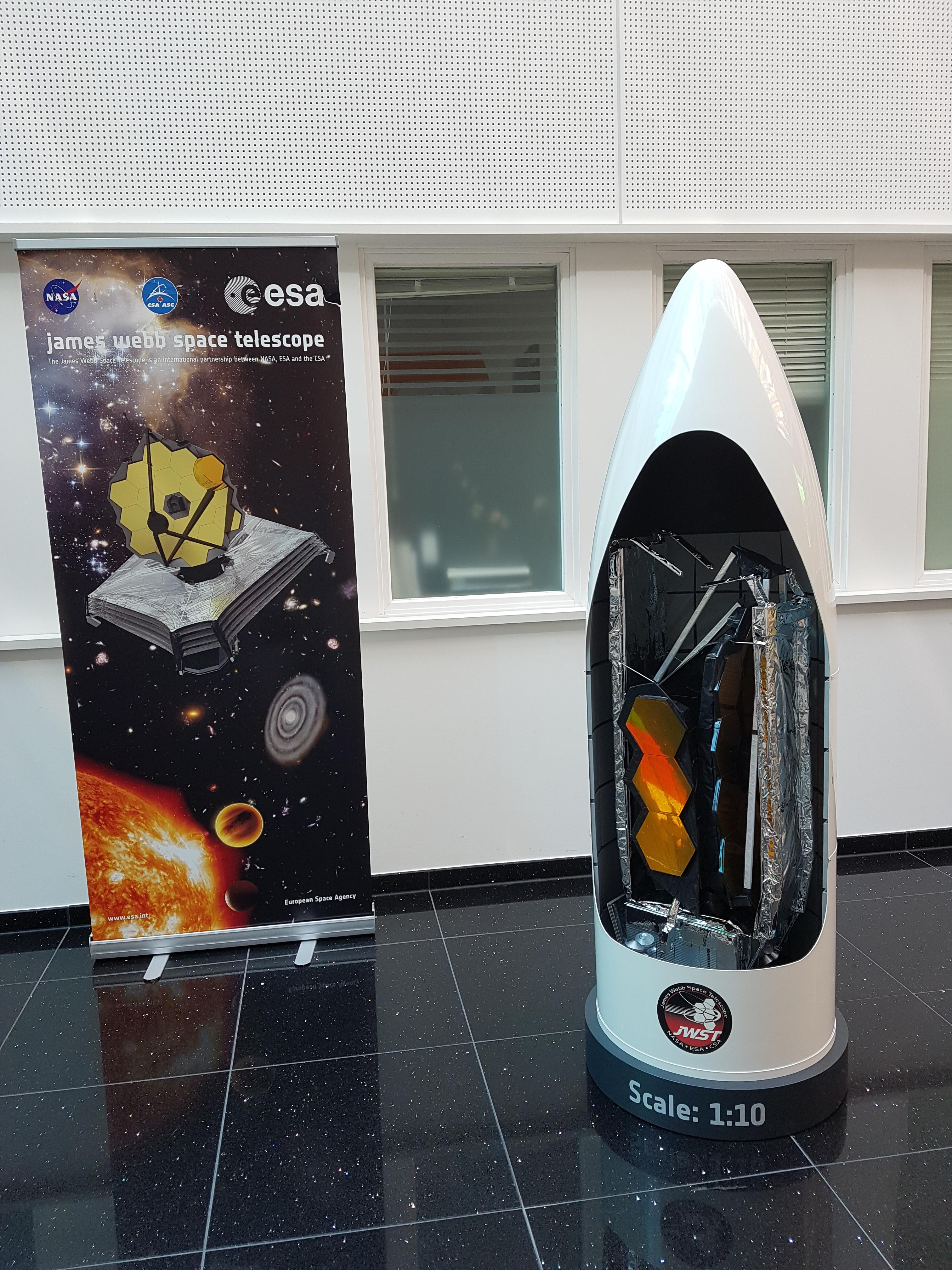 JWST 1:10 in fairing space satellite model
