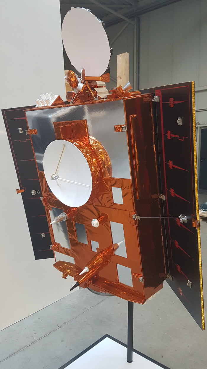 Sentinel-6 1:4 space model satellite