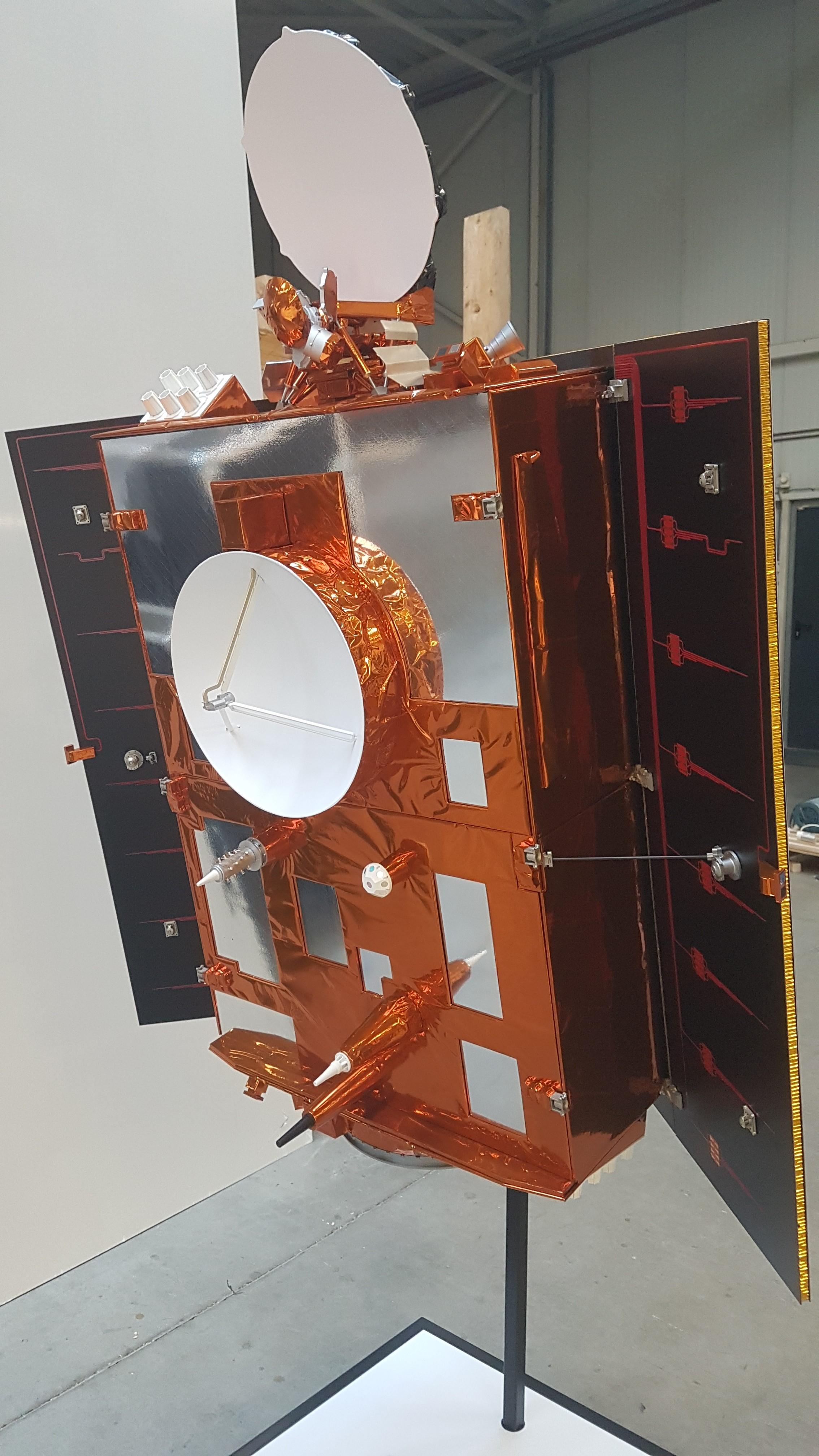 Sentinel-6 1:4 space model satellite